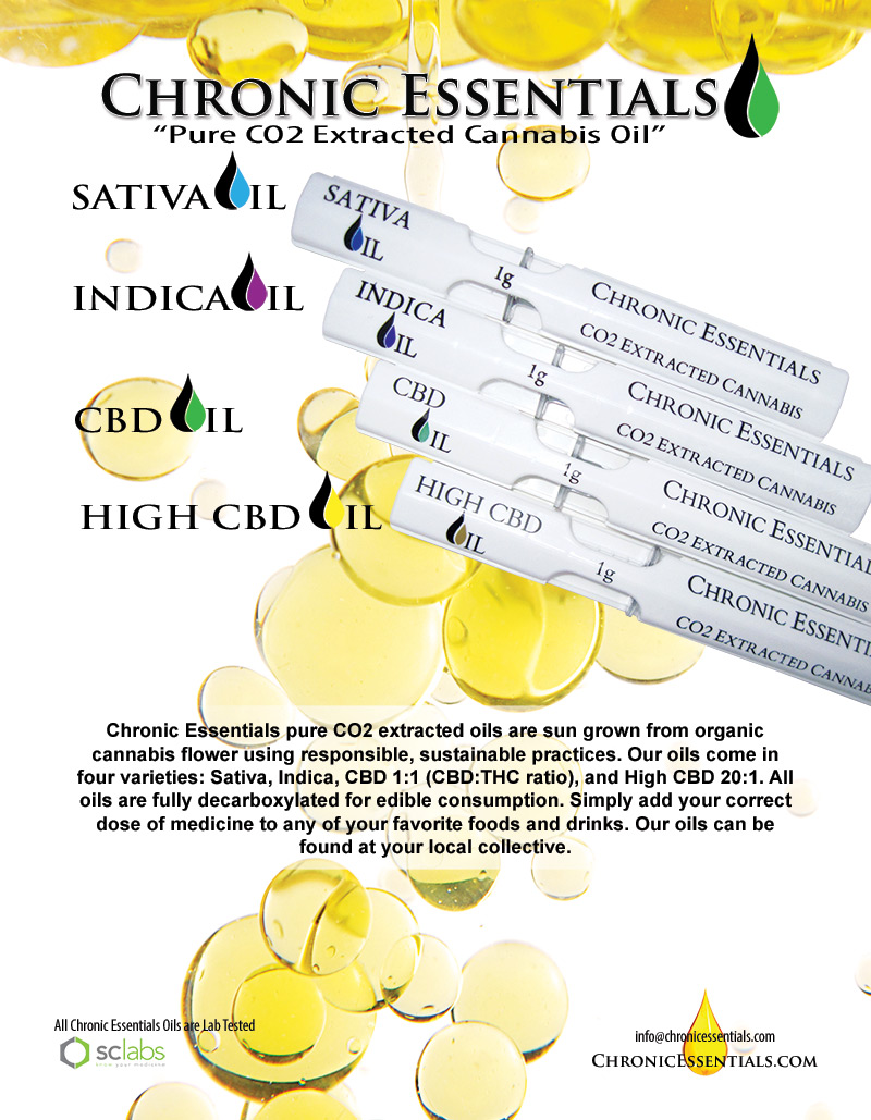 Chronic Essentials Pure CO2 Extracted Cannabis Oil